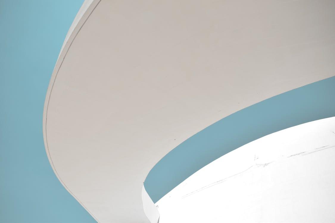 Curved White Concrete Panel