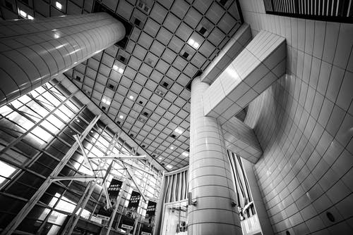 Free stock photo of black and white, building, hong kong