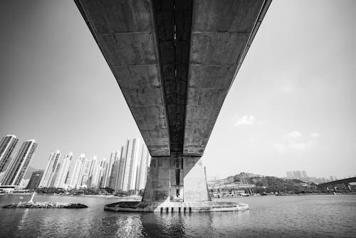Free stock photo of black and white, bridge, hong kong
