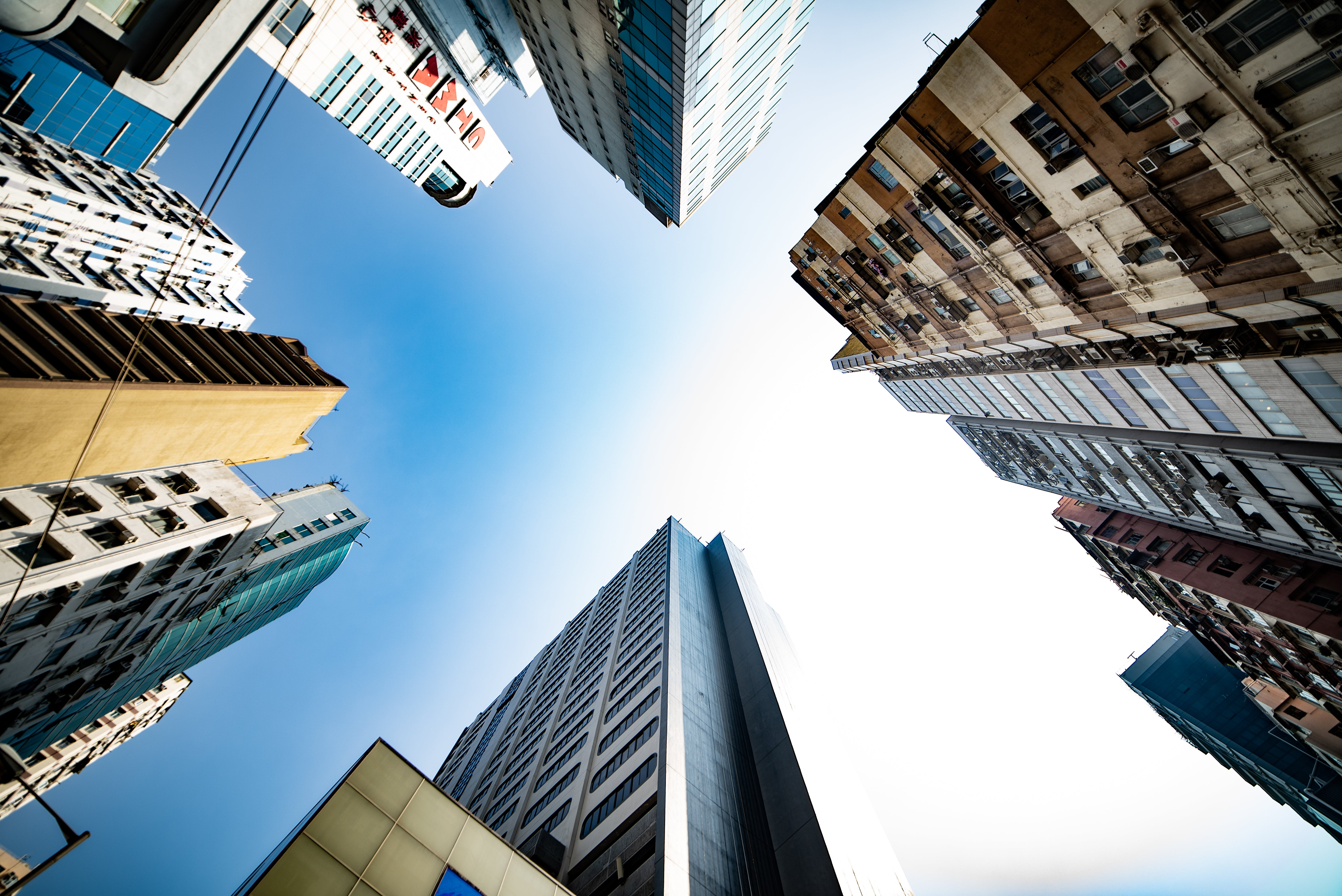 High Rise Buildings Low Angle Photography
