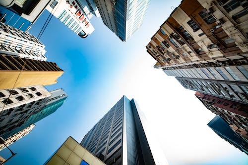 Ingyenes stockfotó alacsony szögű felvétel, alacsony szögű fényképezés, alulnézet, alulról témában