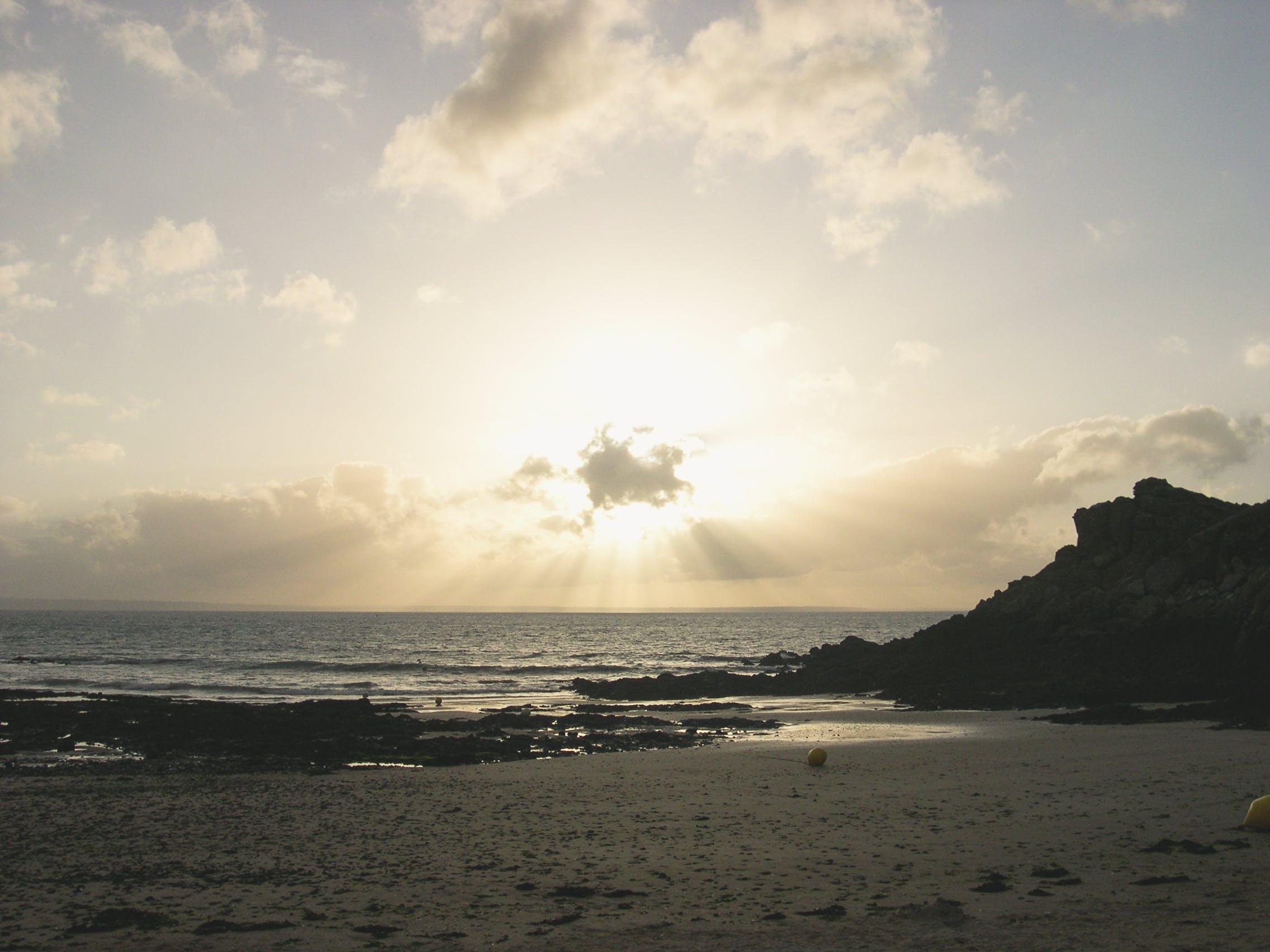 Free stock photo of beach, britain, cloud, cloudy