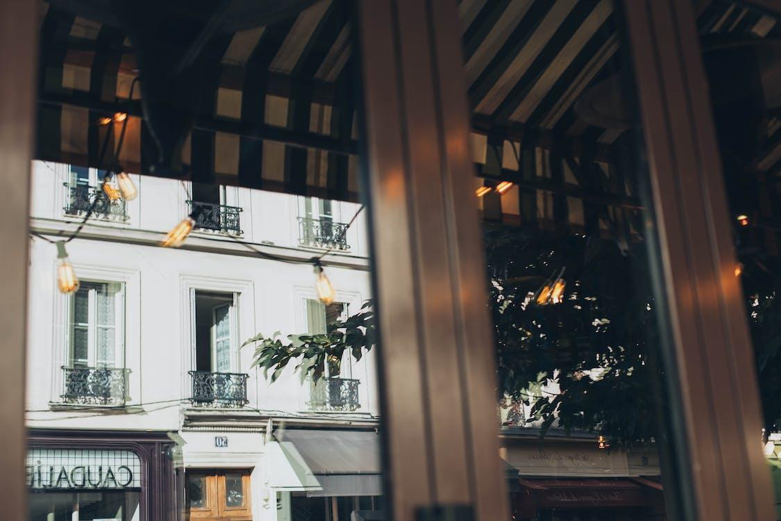 arquitectura, articles de vidre, bombetes