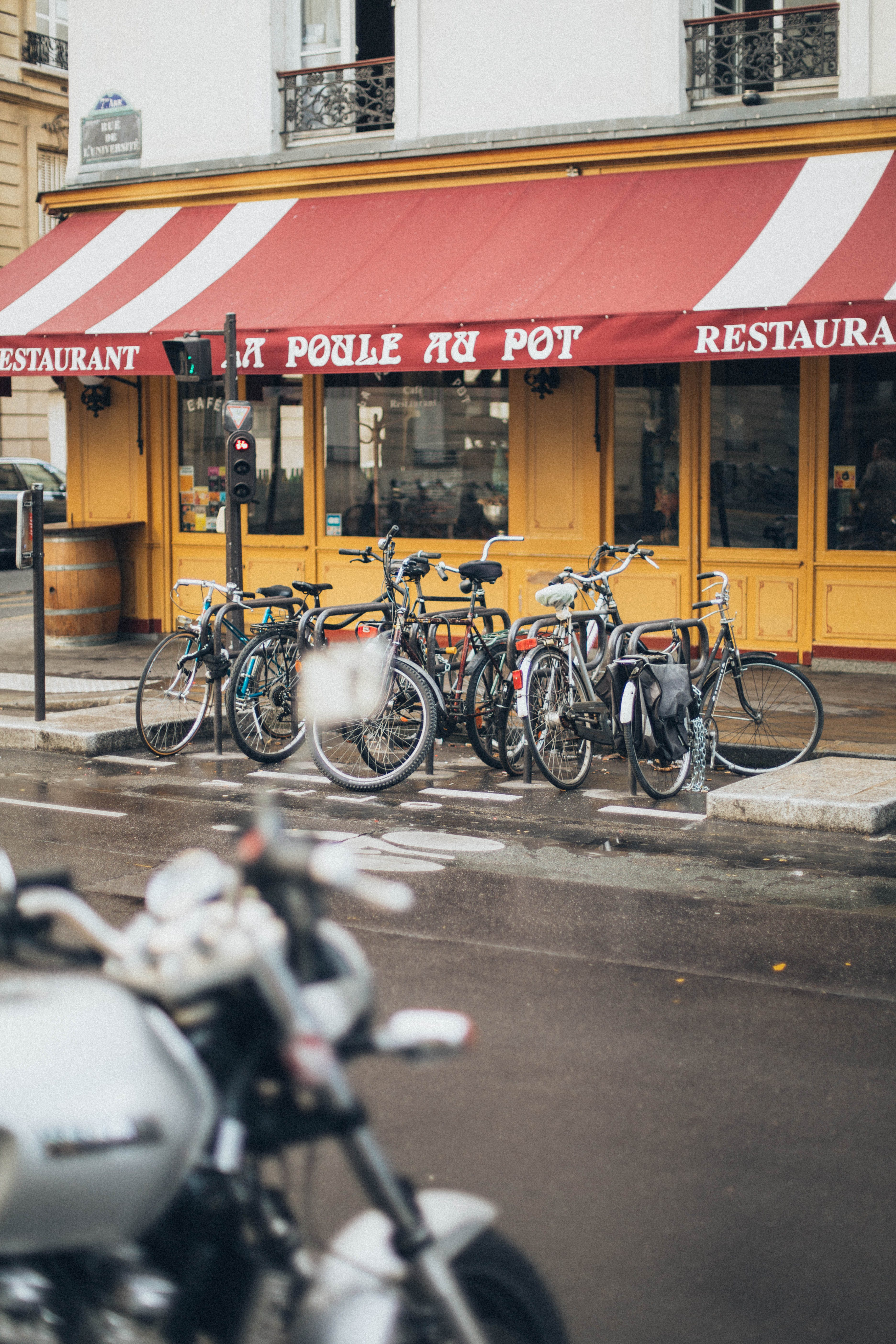 Bikes Pared in Front of Store