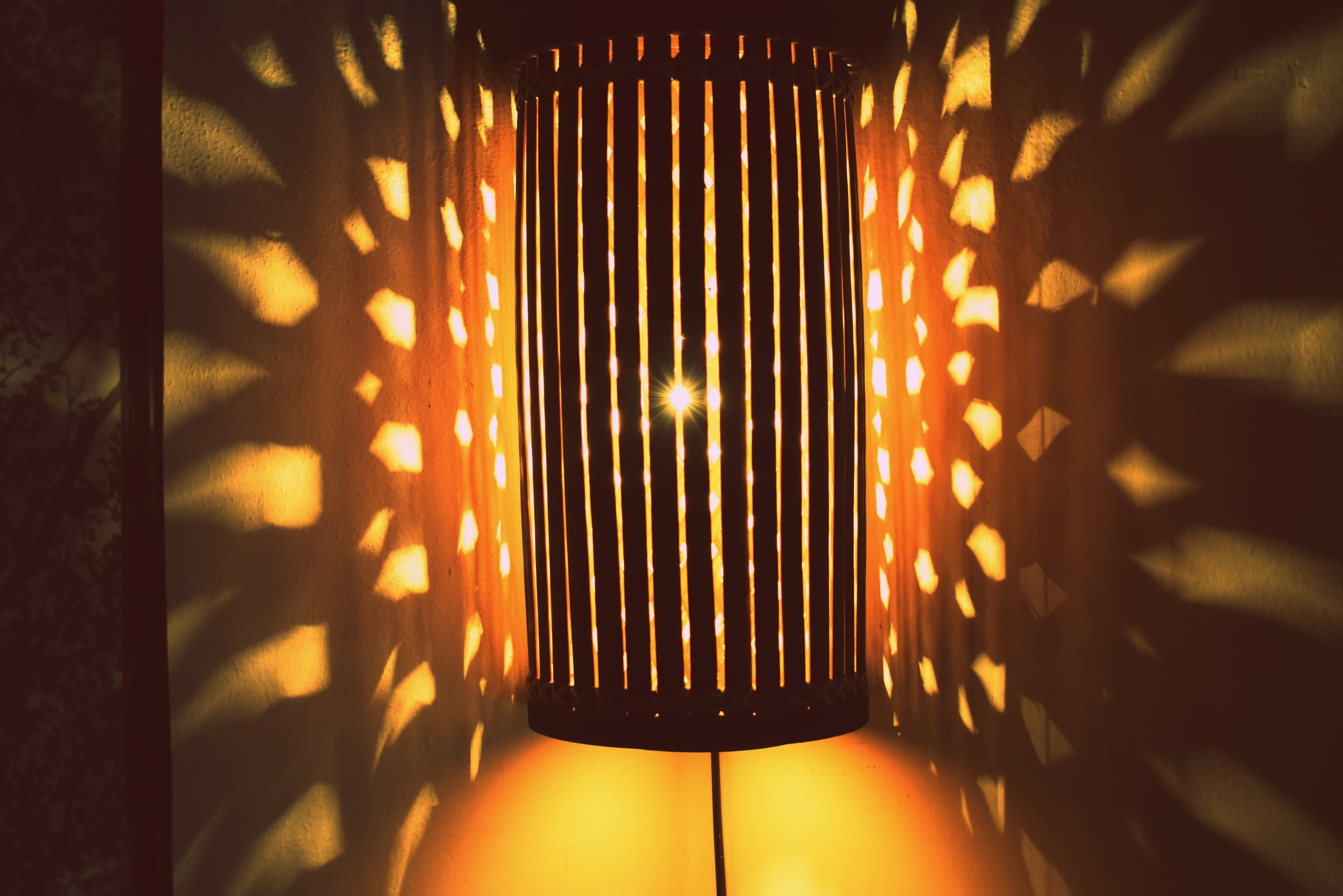 Free stock photo of bamboo lamp shade