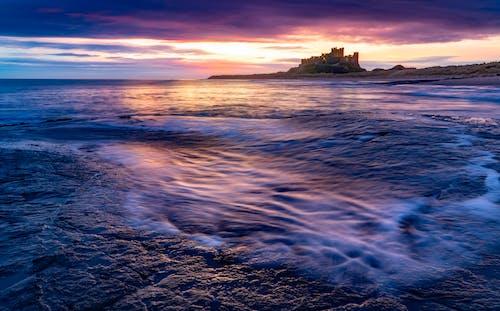 Gratis stockfoto met avond, dageraad, golven, gouden horizon