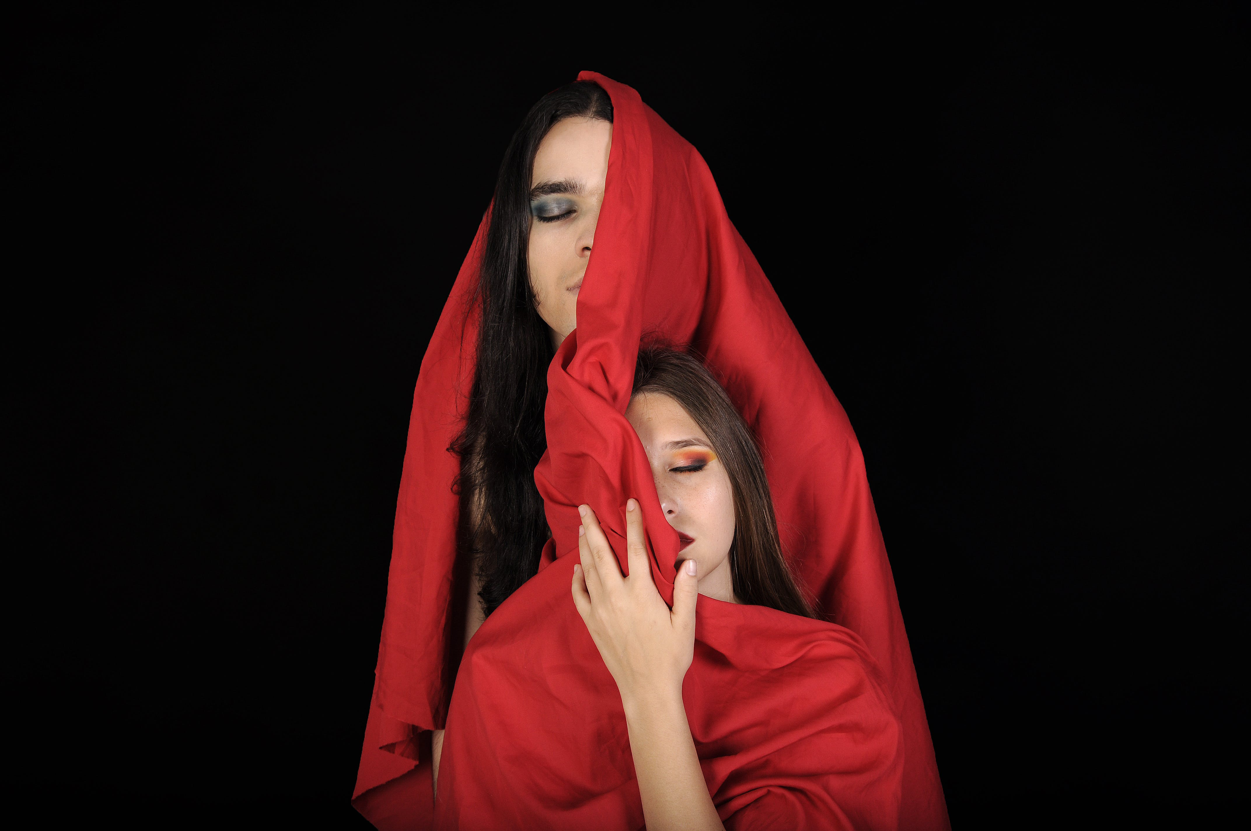 Women With Red Scarf