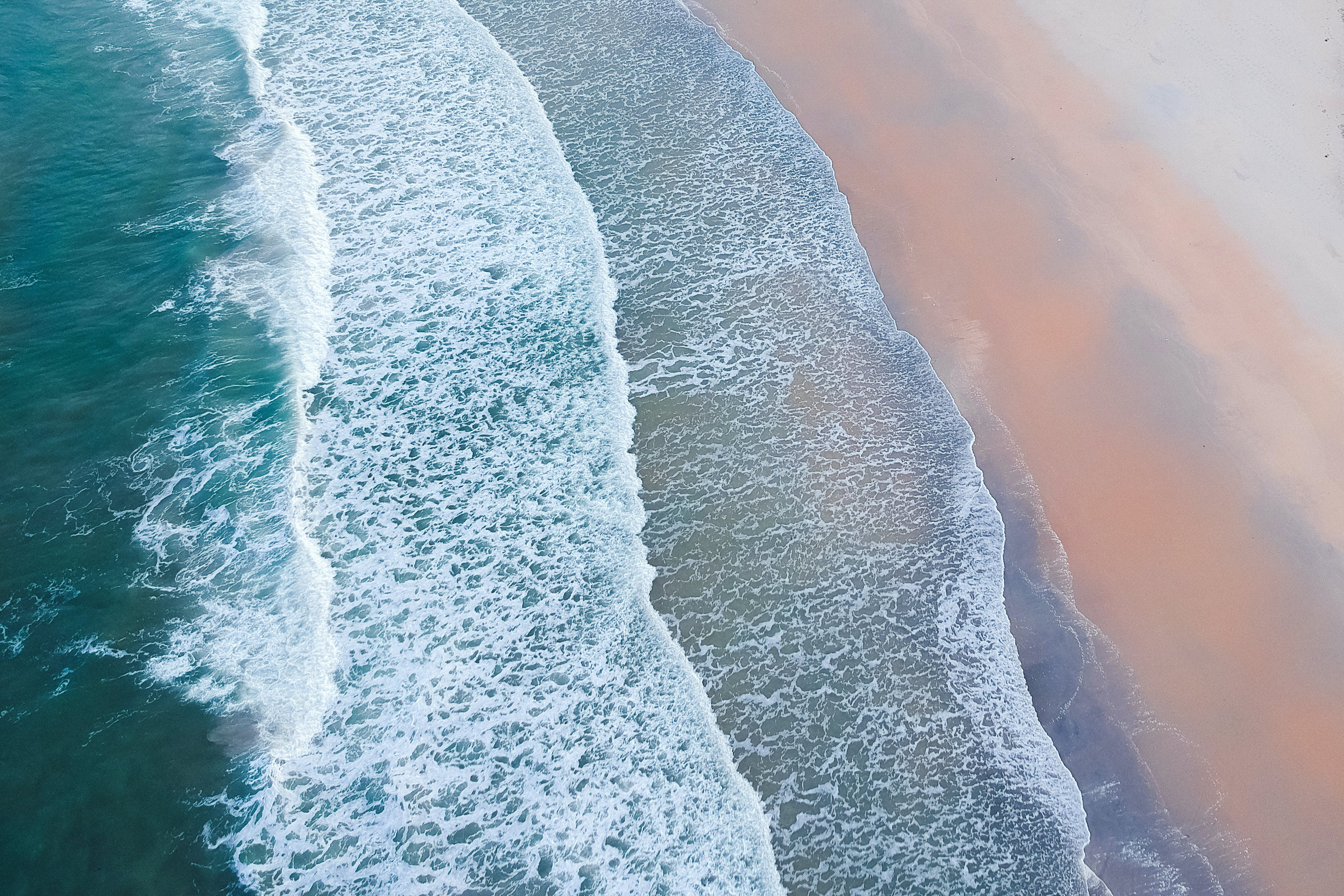 Drone Shot of Light Waves