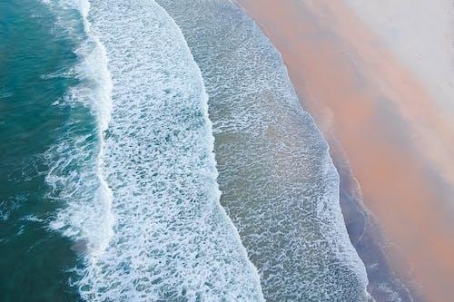 거품, 경치, 모래, 물의 무료 스톡 사진