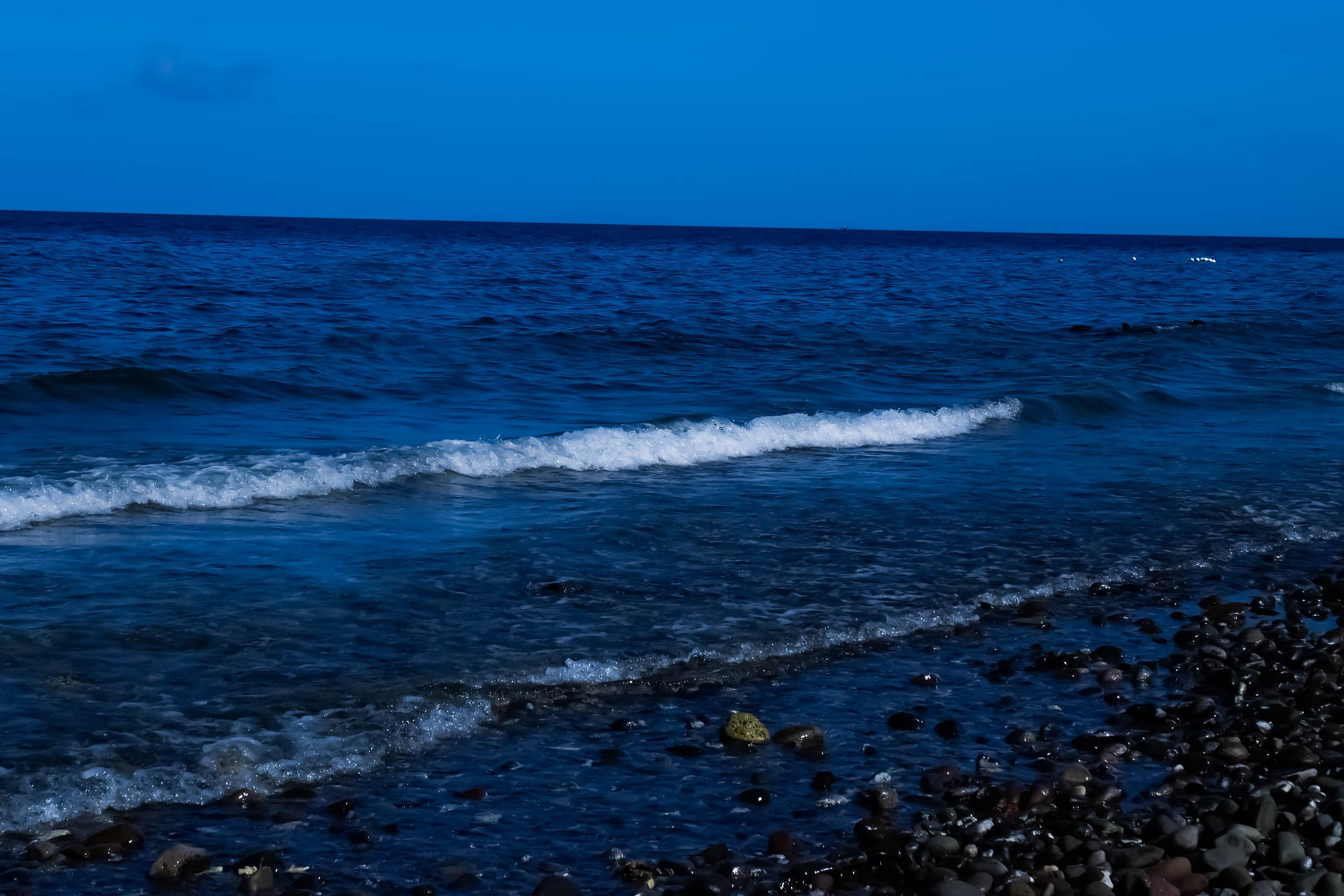 blue, by the sea