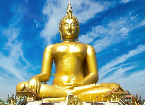 골드, 동상, 불교, 상징의 무료 스톡 사진