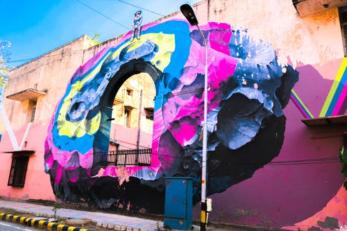 Multicolored Graffiti on Wall