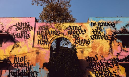 Free stock photo of art, gate, gothic font, graffiti