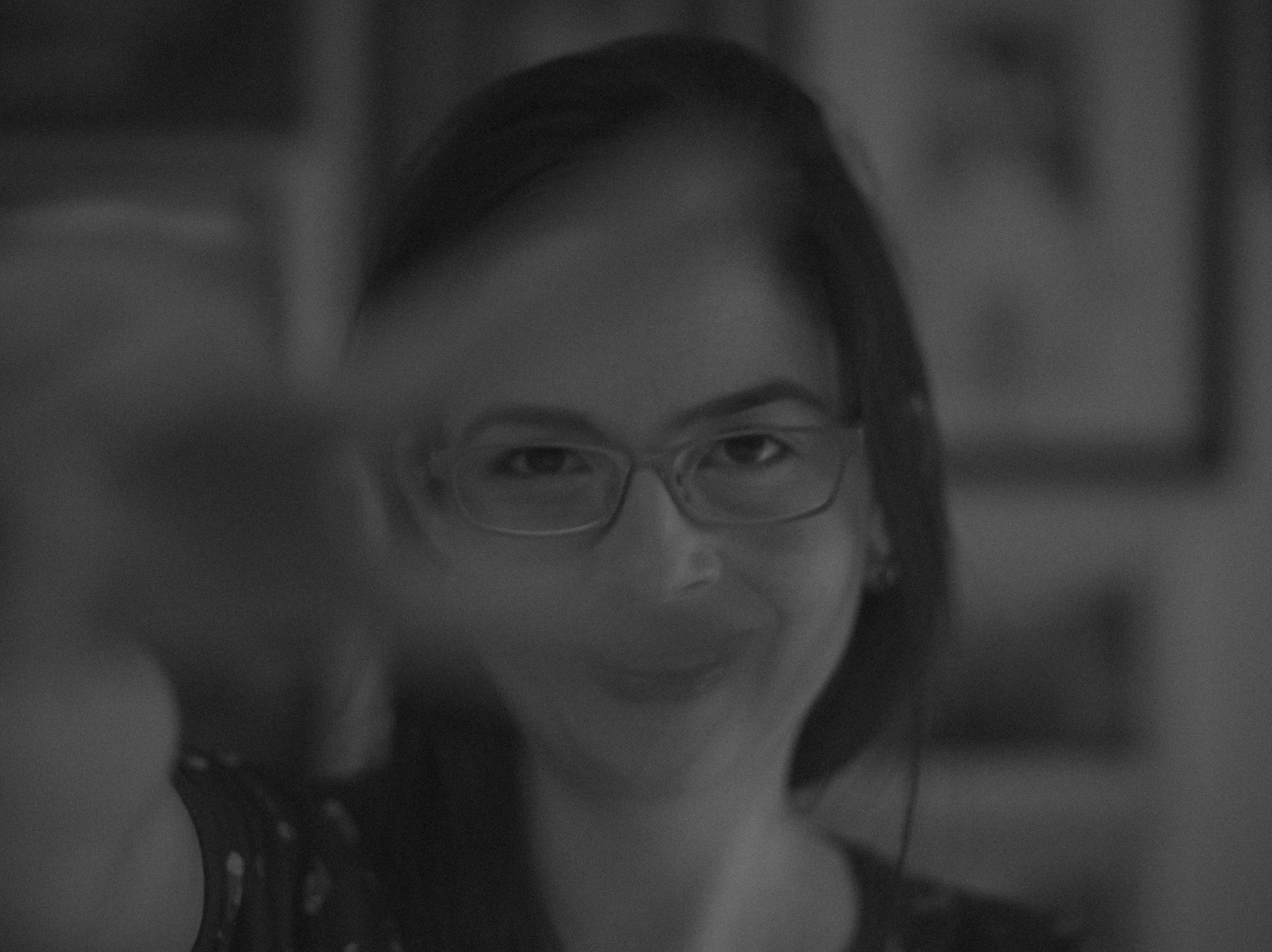 Free stock photo of dame, eye glasses, pb, smile