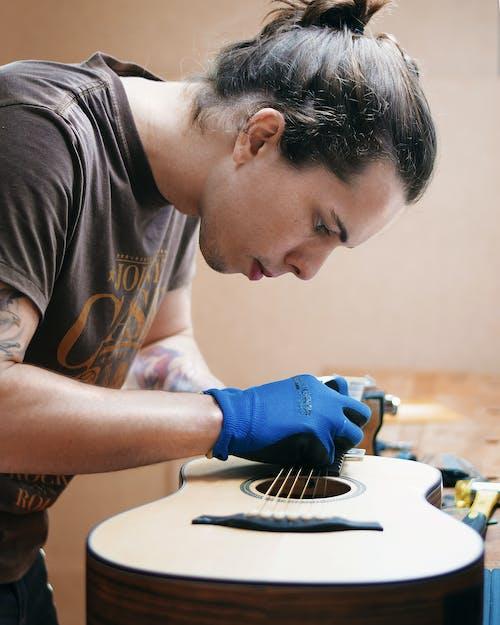 Free stock photo of guitar, hardworking, luthier, Mecanico