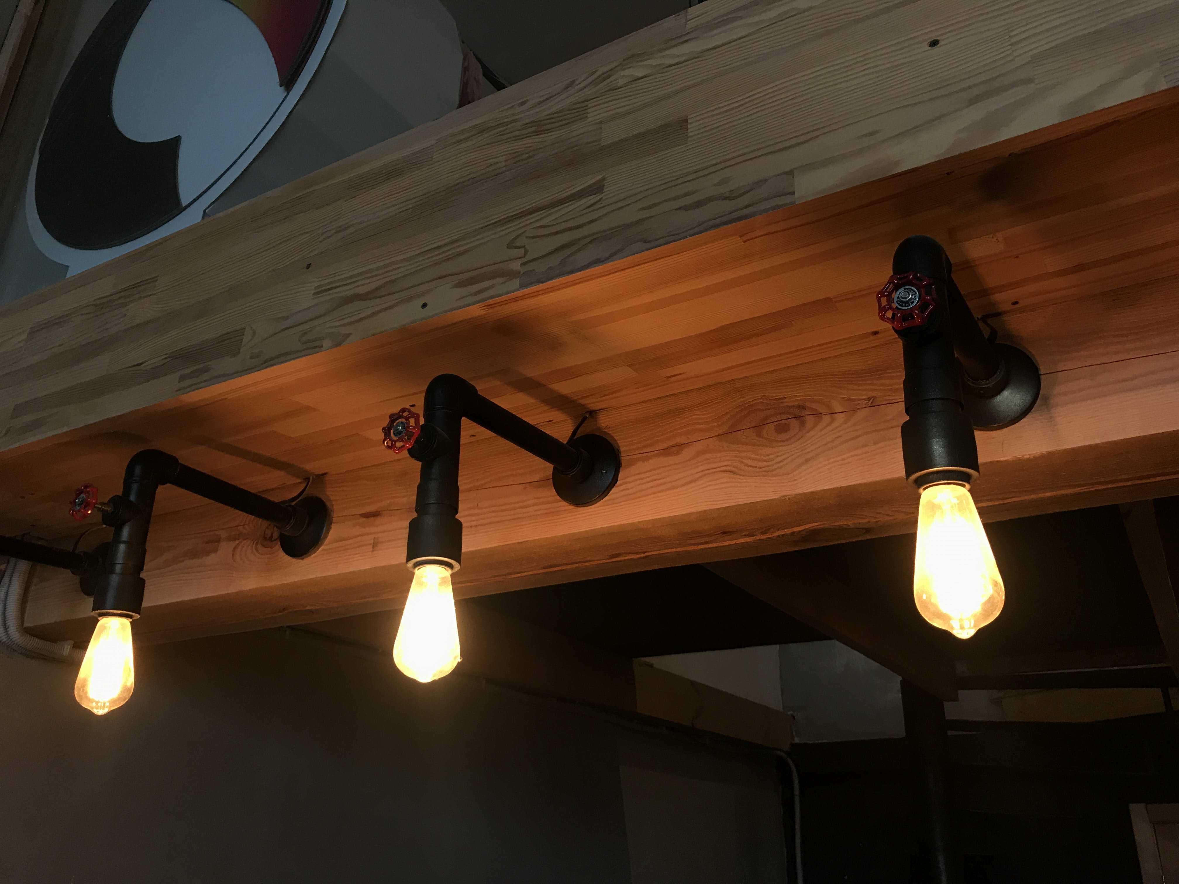 Free stock photo of lamps, loft, red valve, tubes