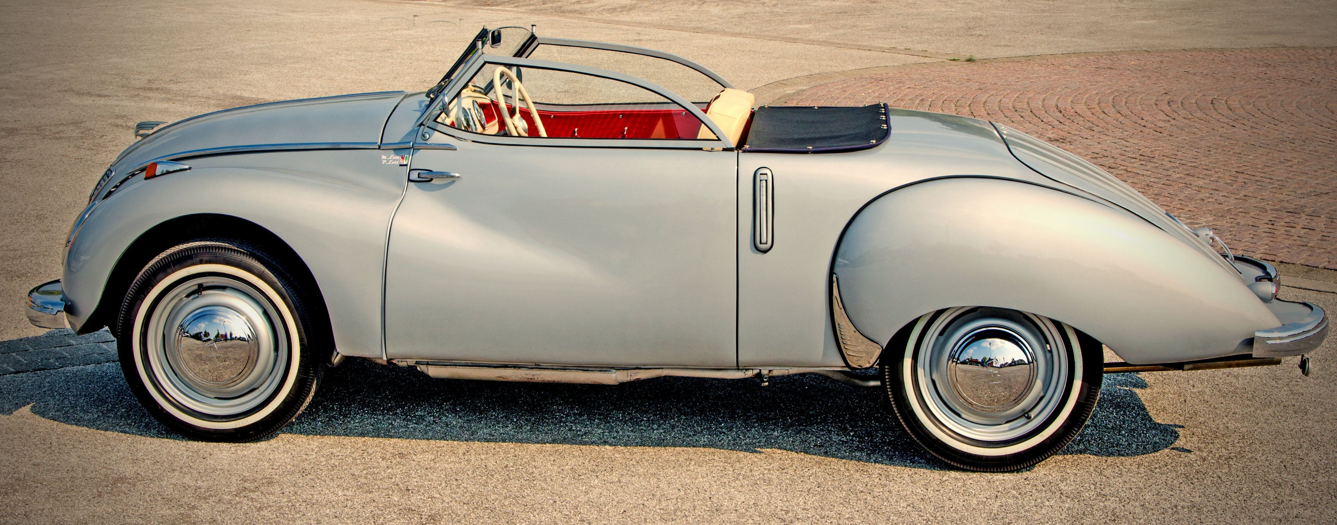Grey Classic Convertible Coupe