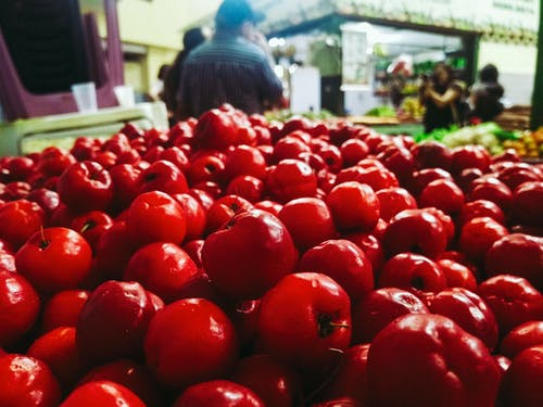 Free stock photo of fruta, mercado, Vermelho