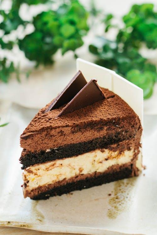 Základová fotografie zdarma na téma čokoláda, čokoládový dort, dort, jídlo
