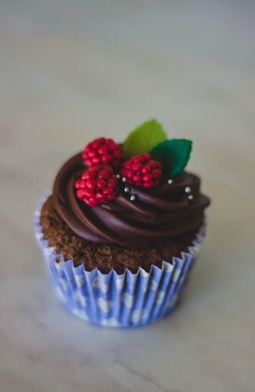 Gratis lagerfoto af bær, chokolade, cupcake, delikat