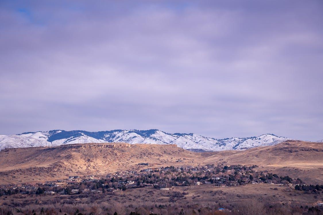 arídny, hora, krajina