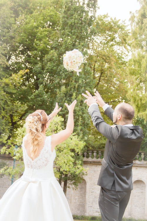 Free stock photo of bride, bright, couple, flower