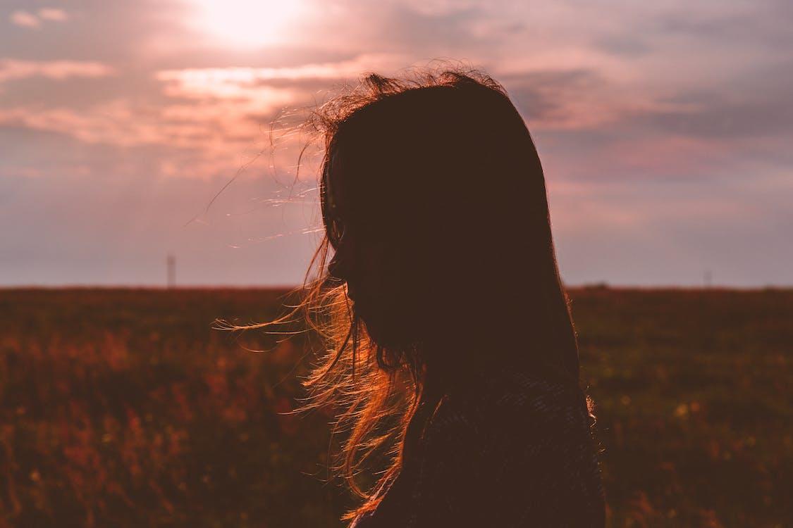 dziewczyna, osoba, pole
