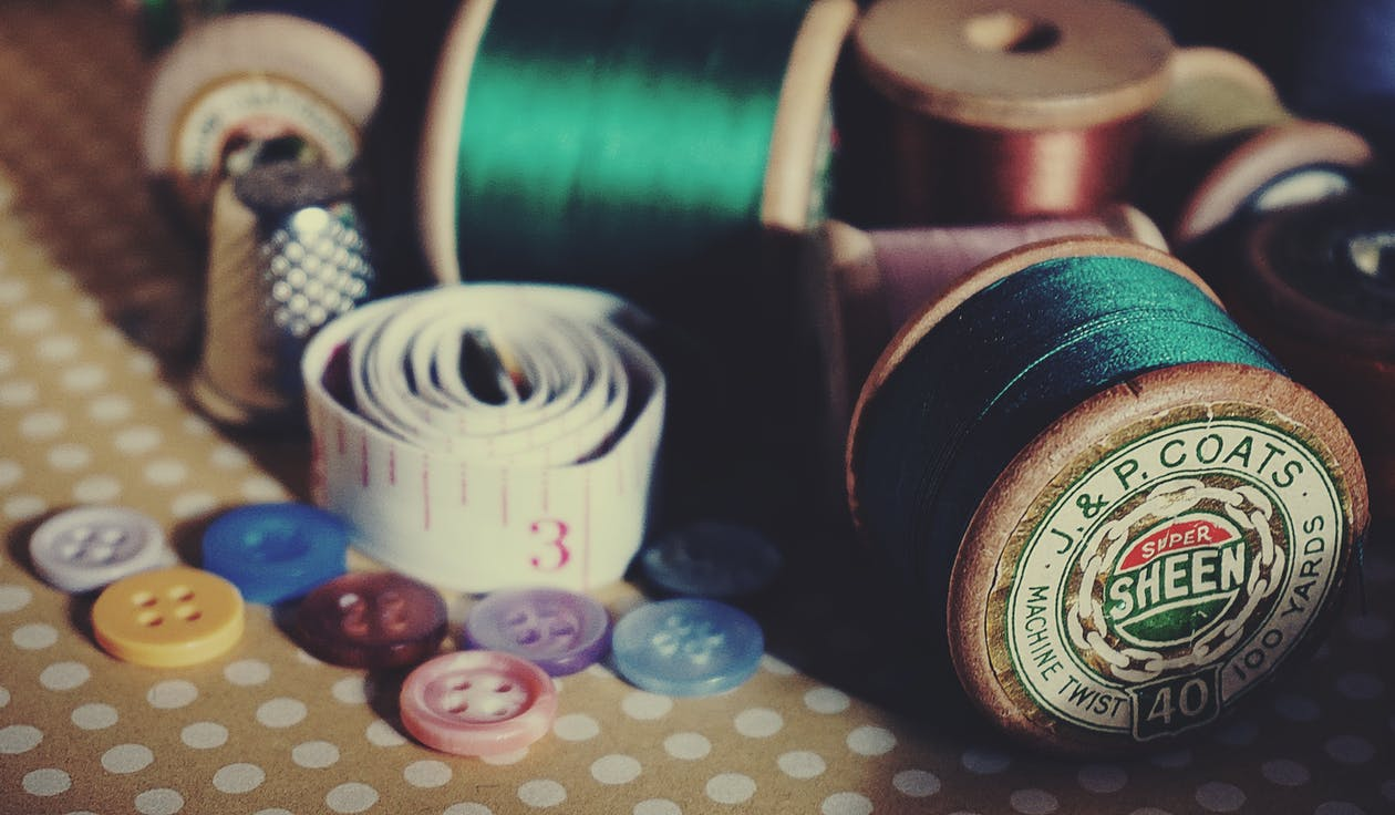 Sewing Kit Close-up Photography