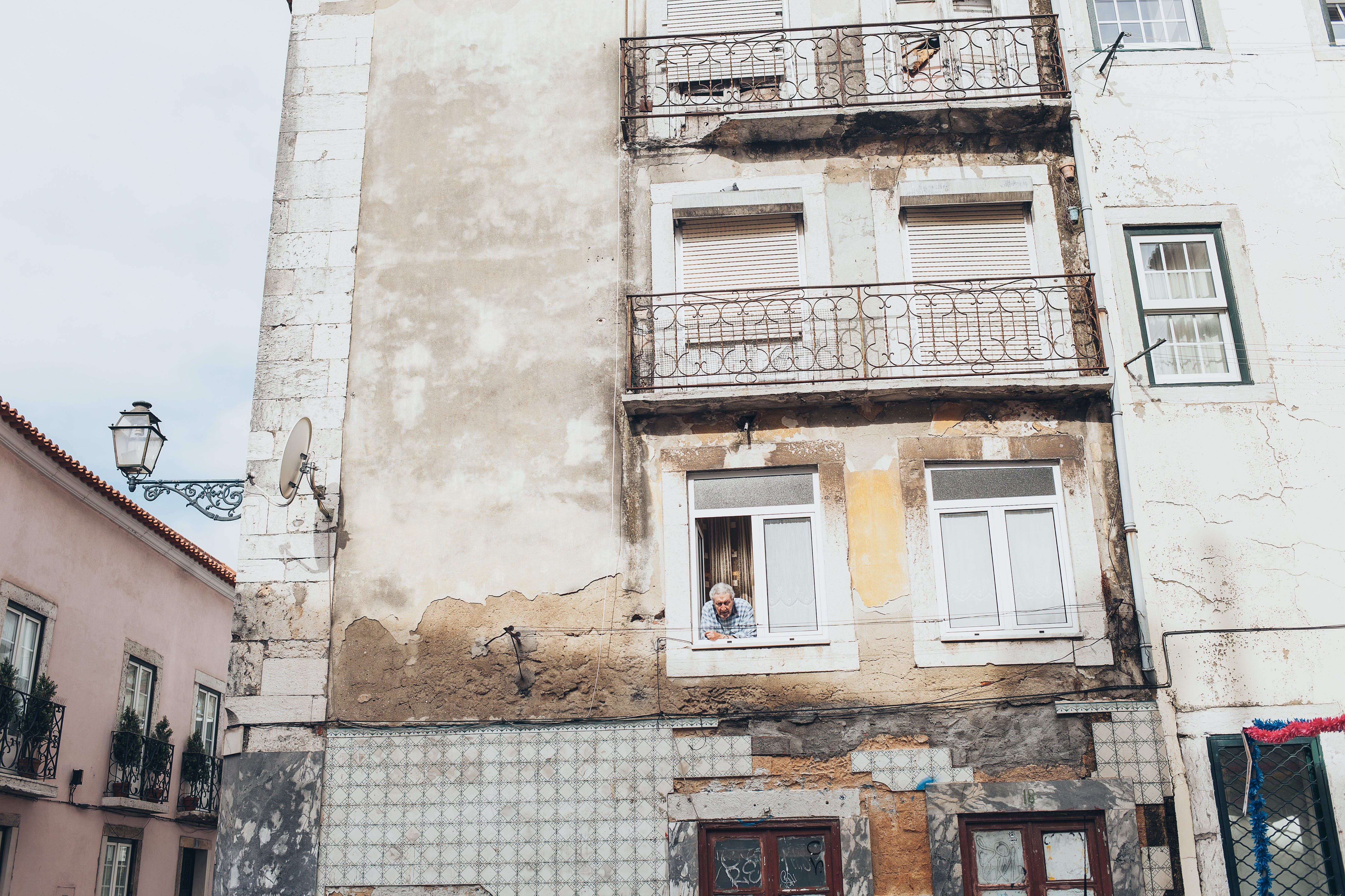 apartmán, architektura, balkon