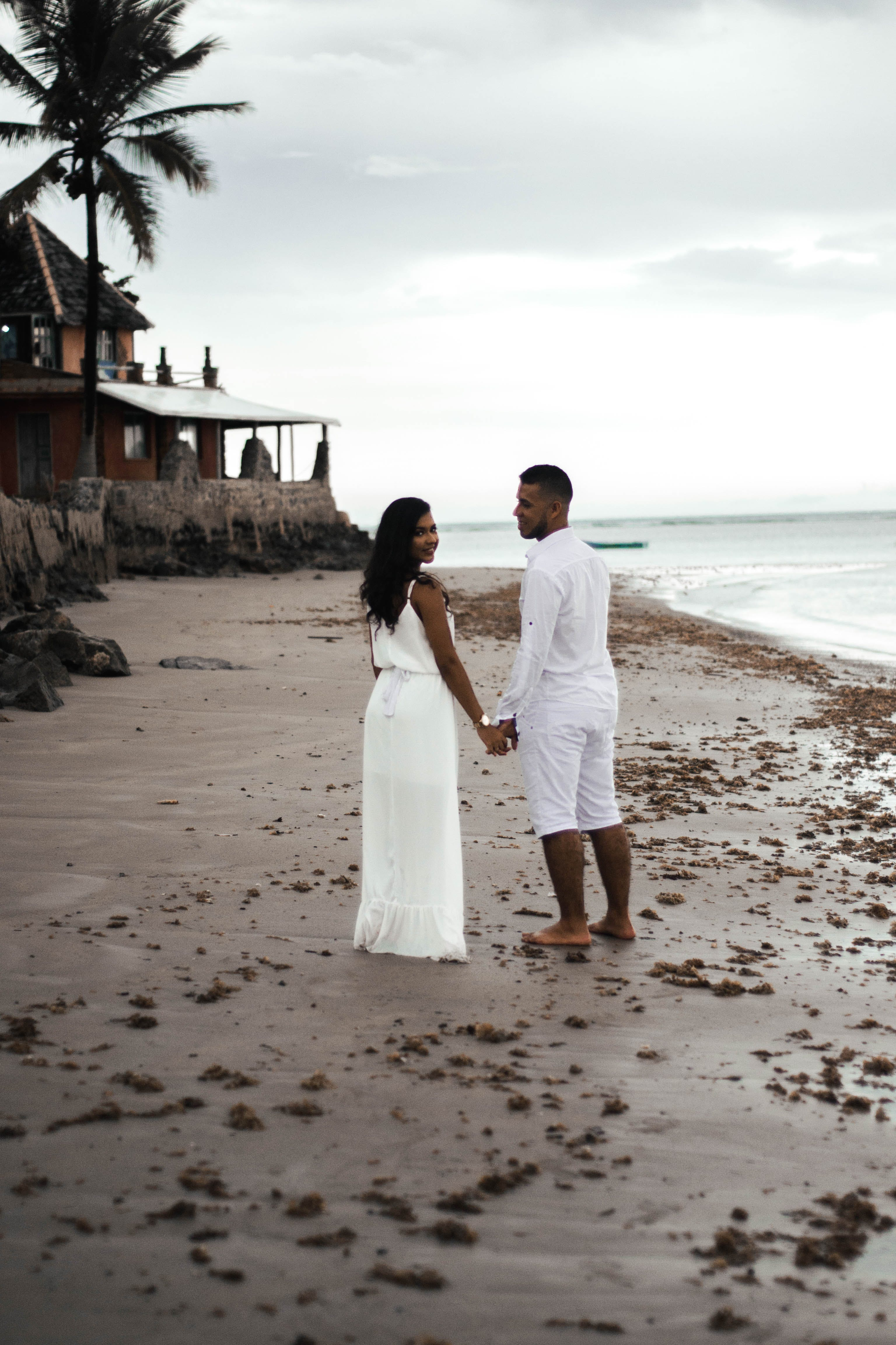 Couple Standing on Shore