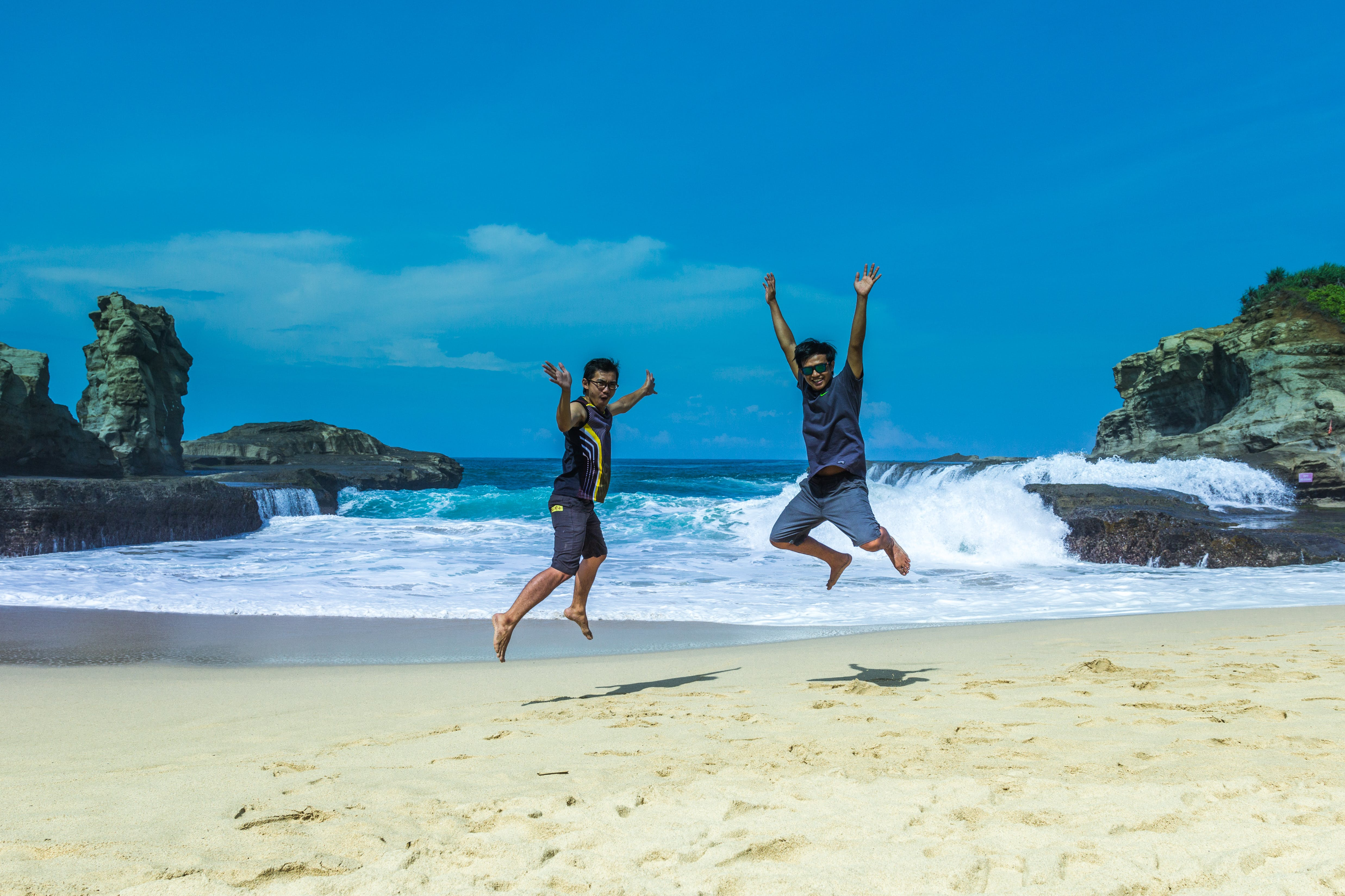 Free stock photo of man, beach, water, summer