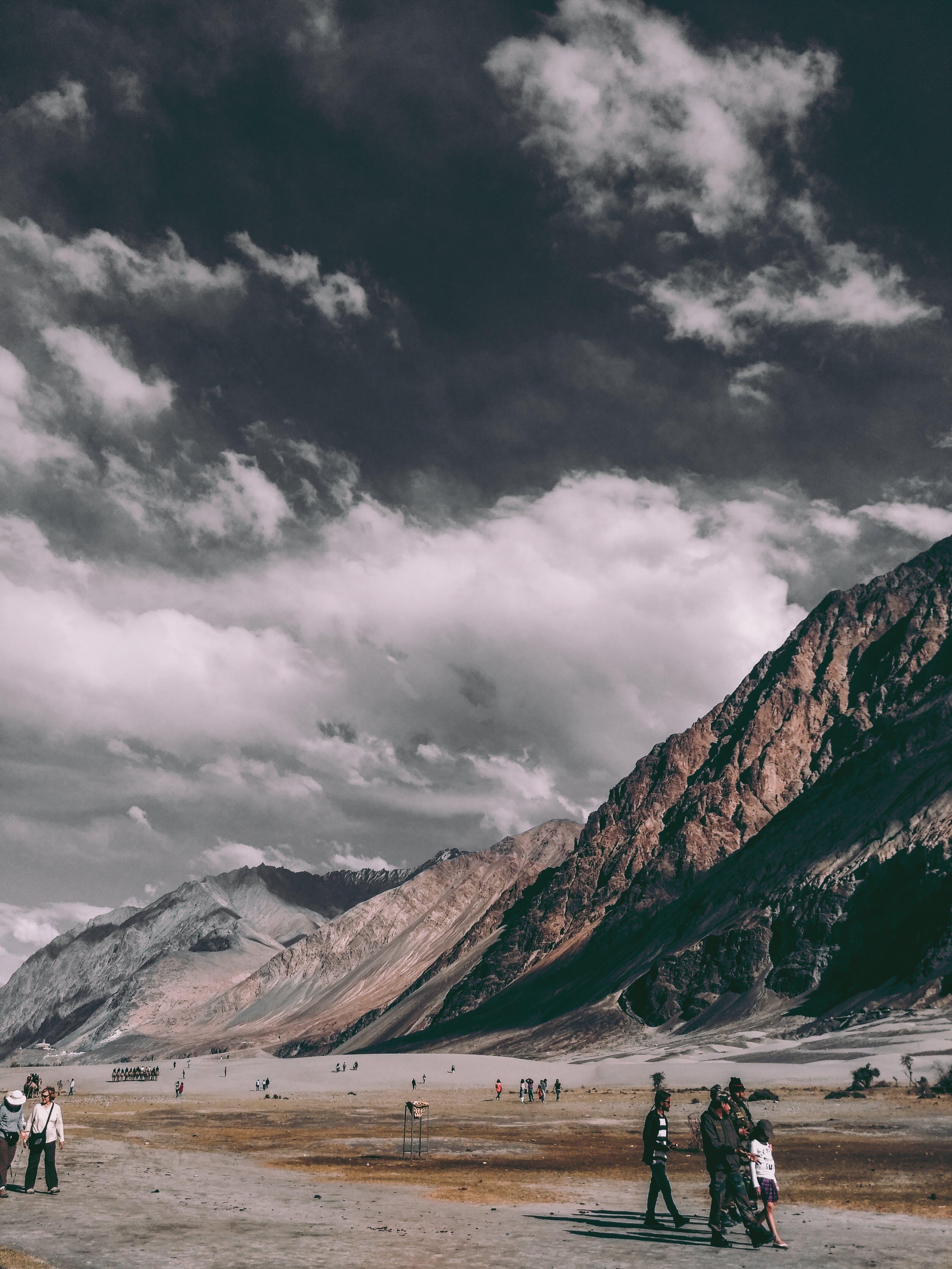 People Near Rocky Mountains