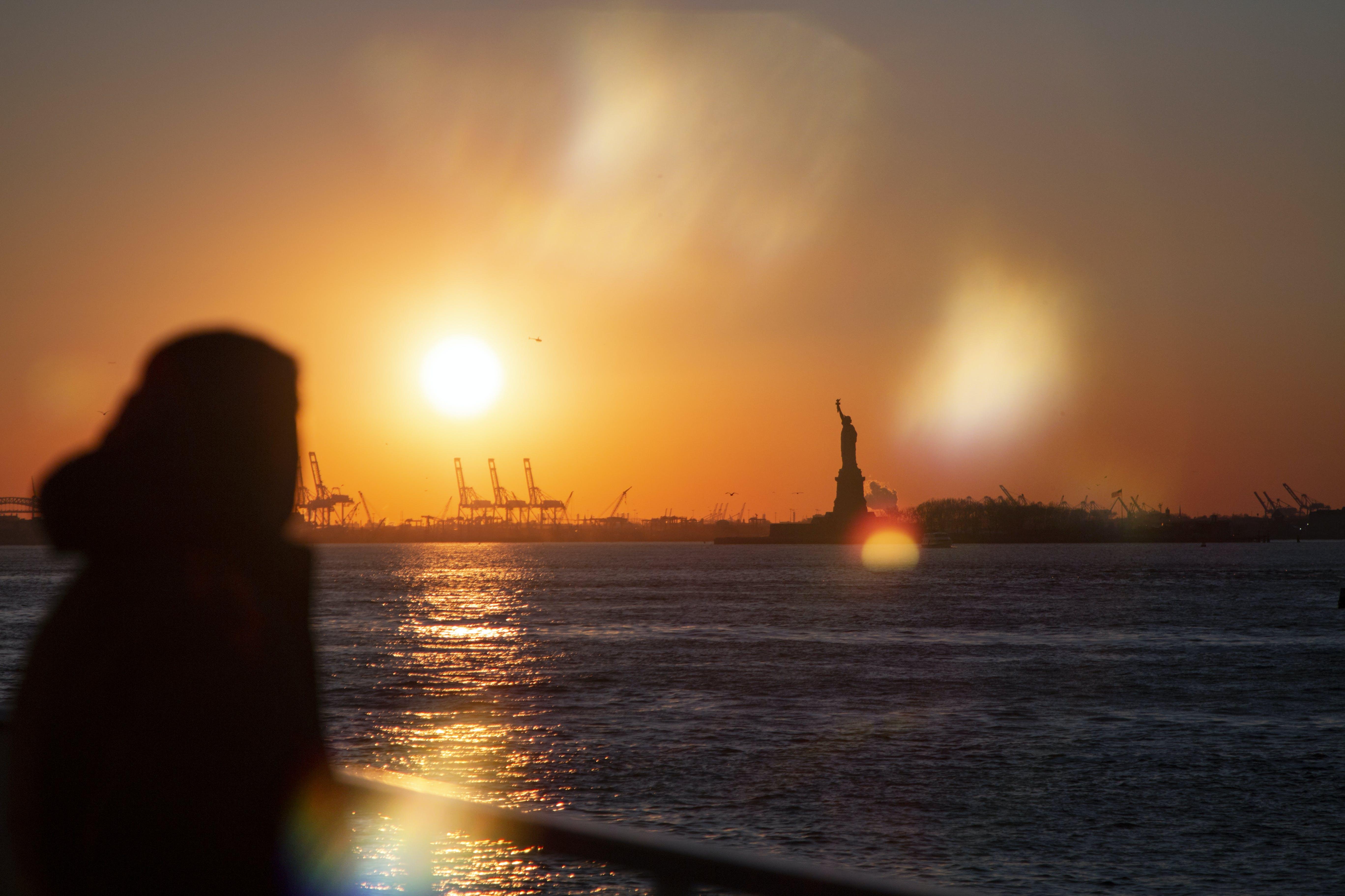 ゴールデンアワー, ニューヨーク, ニューヨーク市, フレアの無料の写真素材