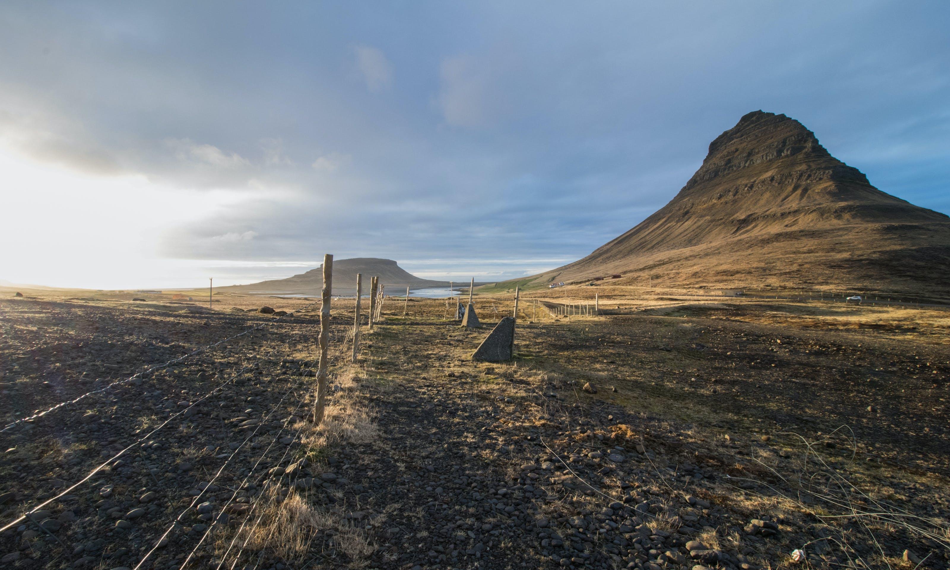 Free stock photo of fence, iceland, kirkjufell, landscape
