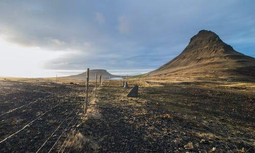 Free stock photo of fence, iceland, kirkjufell, landscape