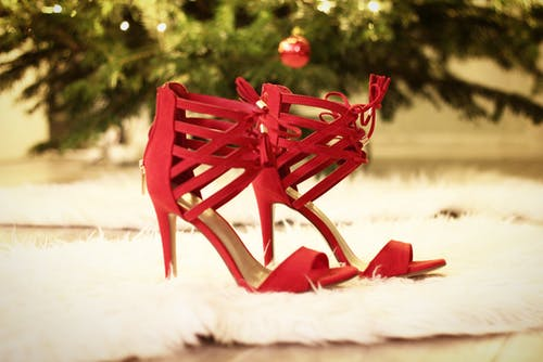 Free stock photo of boudoir, girl, high-heeled, red
