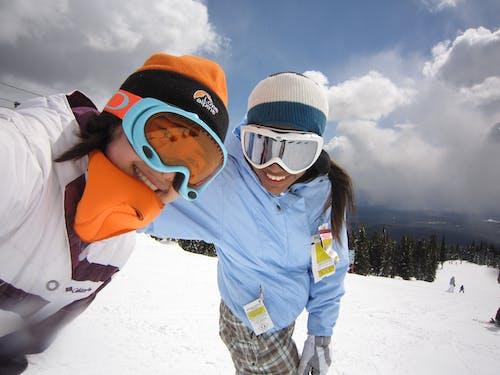 Free stock photo of snowboarding