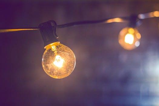Lampjes in tuin