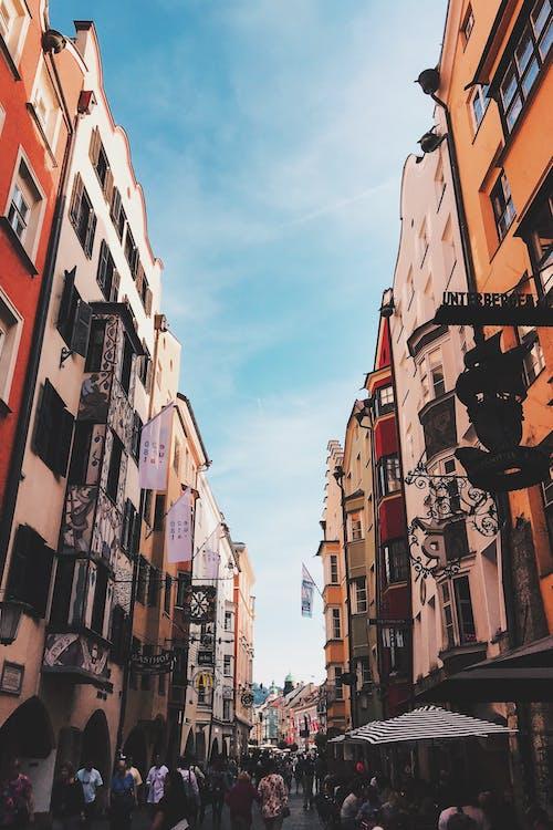arquitectura, calle, caminando