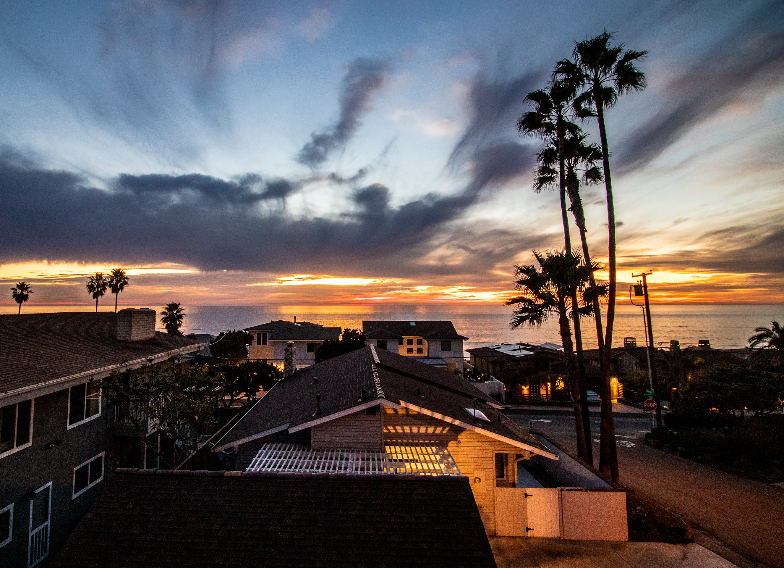 Free stock photo of encinitas, Grandview, ocean, palm trees