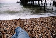 sea, beach, feet