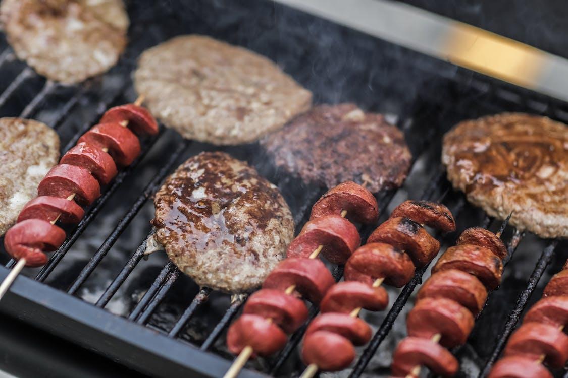 Grilled Spiral Sausage With Steak