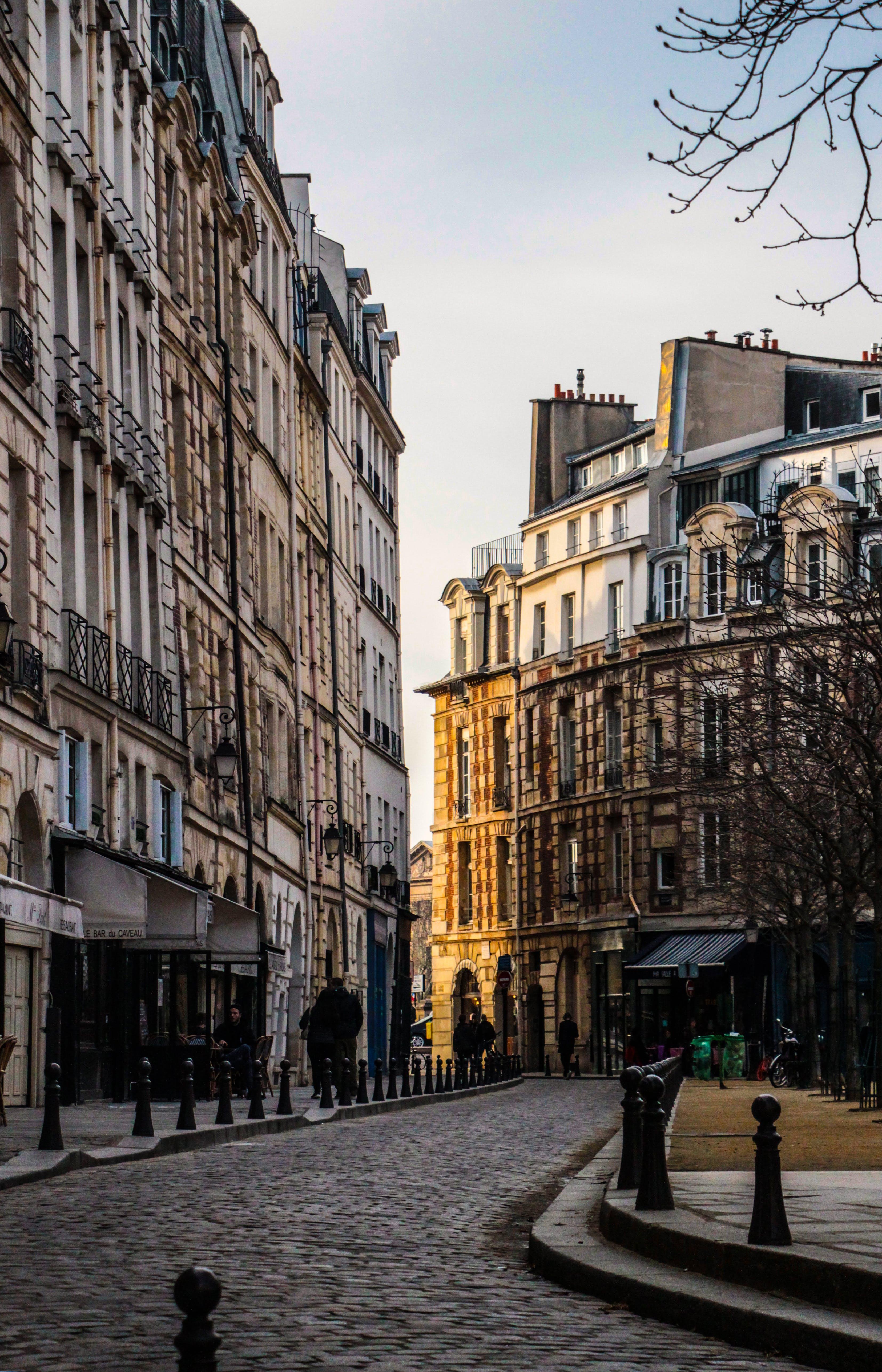 Free stock photo of architectural, evening sun, parisian, street