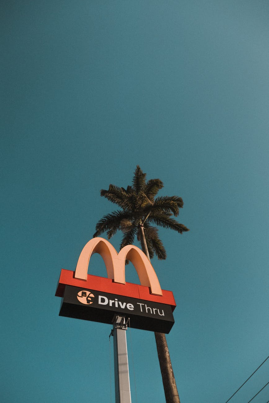 Mcdonald Drive Thru Road Signage