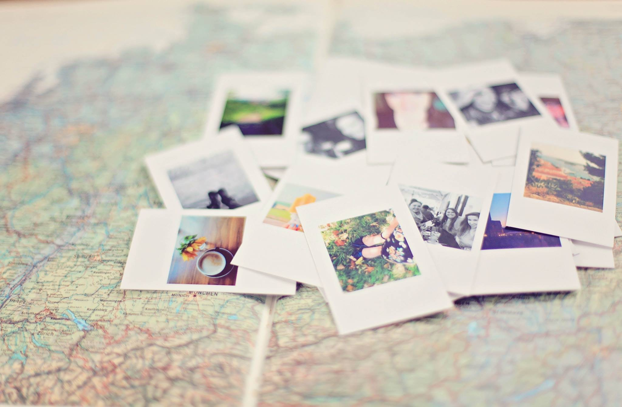 Images of travels on a map of study abroad adventures