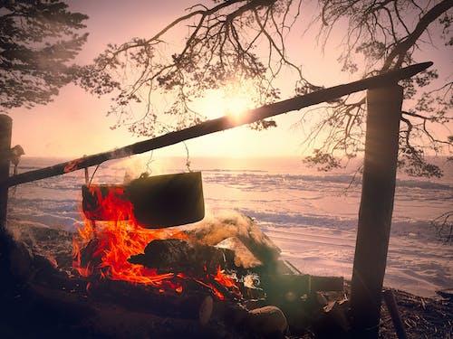 Photos gratuites de aventure, cheminée, coucher de soleil, feu
