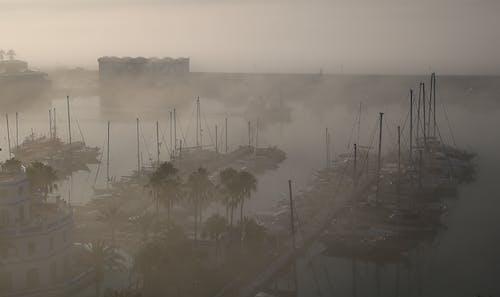 Gratis arkivbilde med havn, spania, tåke