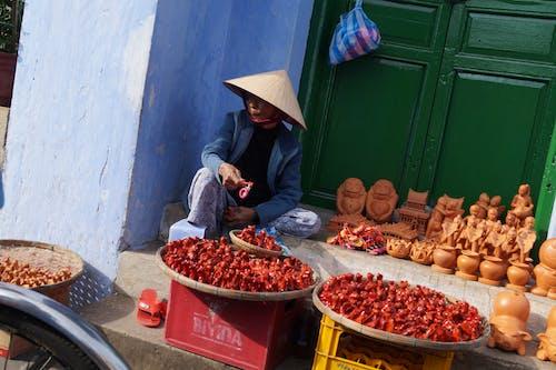 Free stock photo of merchant, selling, street