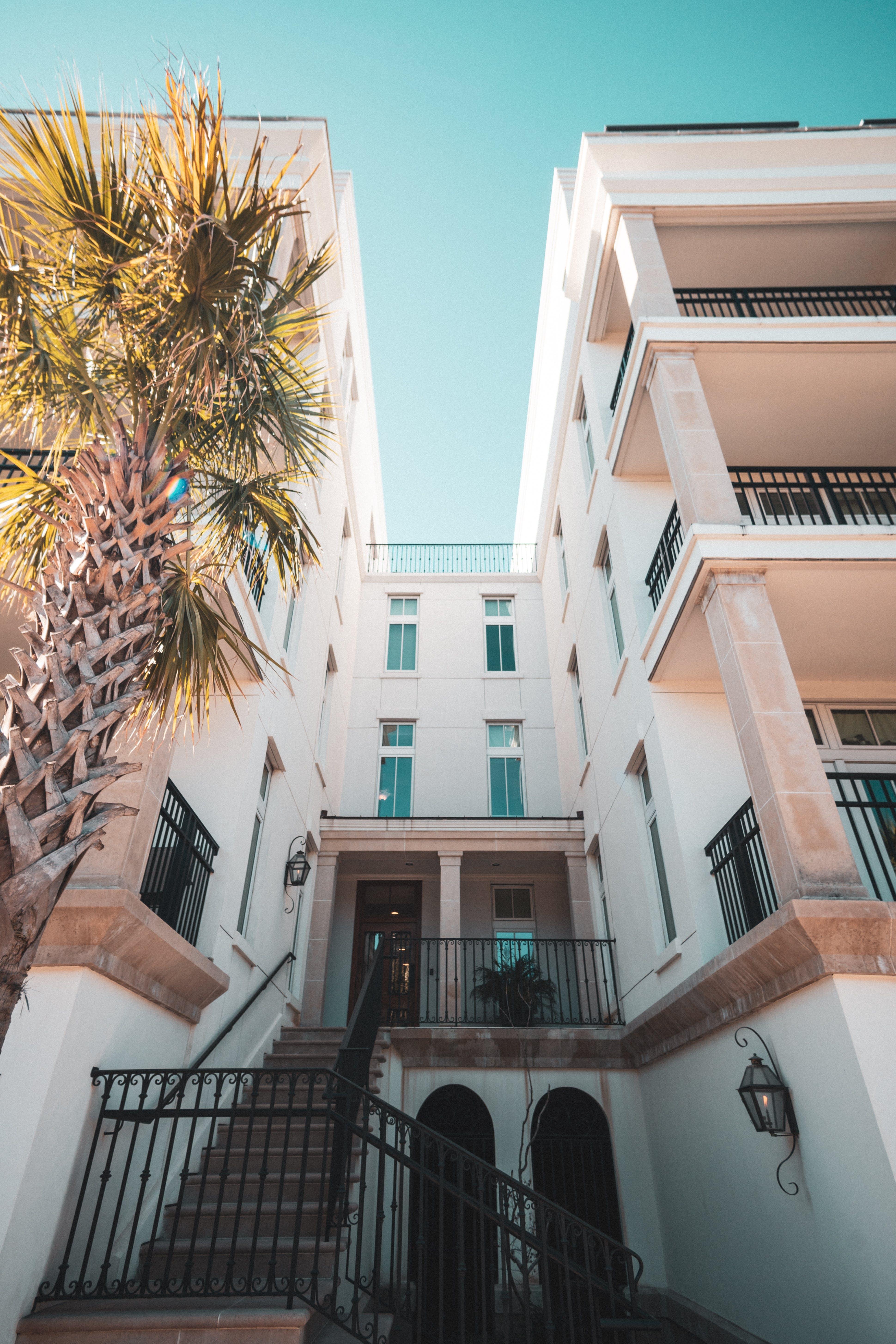 architektur, architekturdesign, balkone