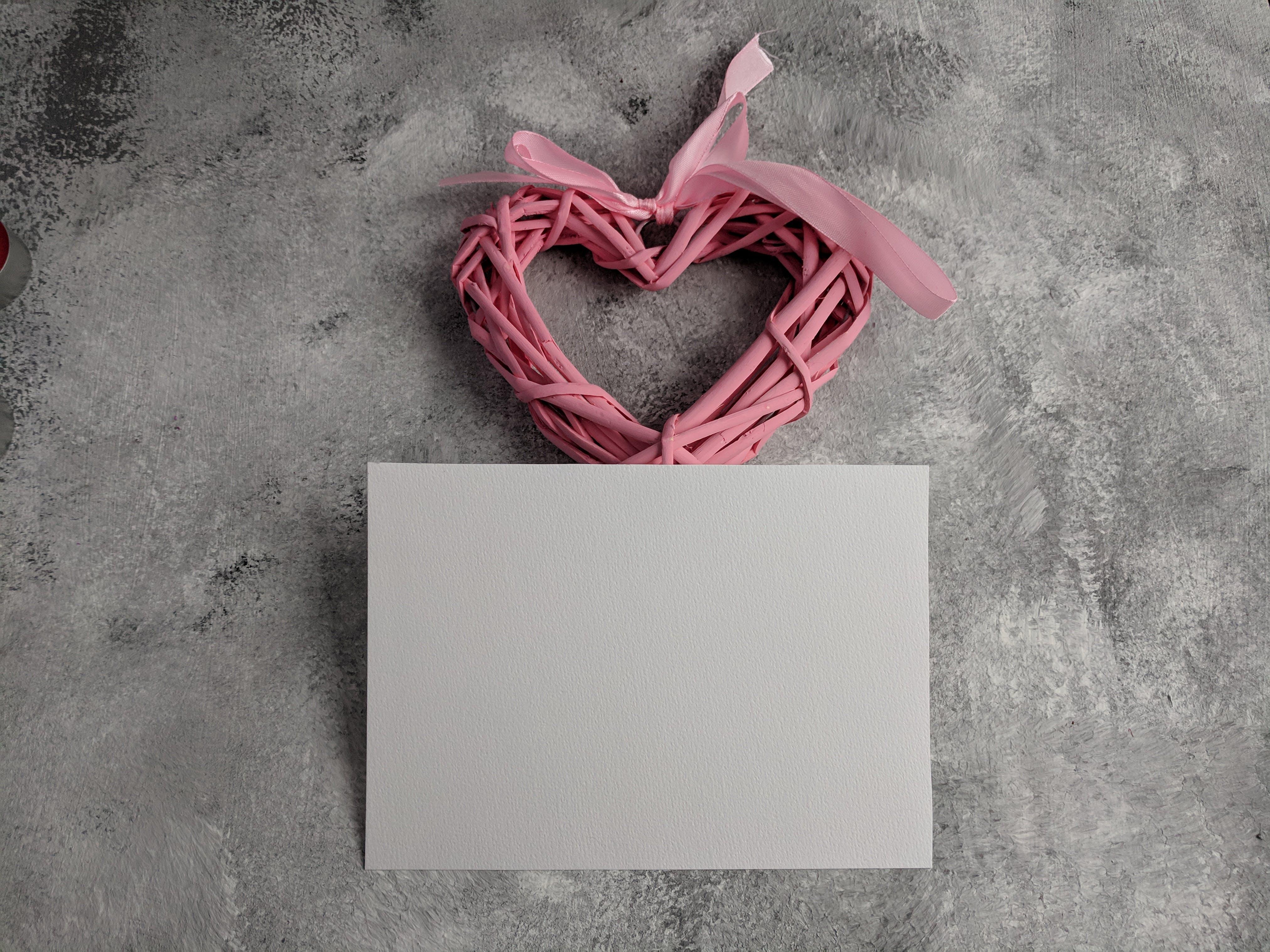 Free stock photo of blank, card, heart, valentine
